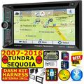 FOR 2007-2016 TUNDRA-SEQUOIA AM/FM USB/BLUETOOTH CAR RADIO STEREO PKG WITH OPT SIRIUSXM SATELLITE RADIO. INCL VEHICLE INSTALLATION HARDWARE DASH KIT, WIRE HARNESS, AND ANTENNA ADAPTER