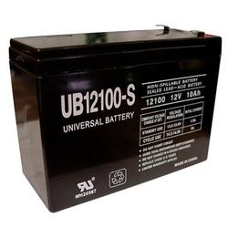 Universal Power Group Inc 86012 Terminal F2 RechargeIle Sealed Lead-Acid Battery 12 Volt, 10 Amp #UB12100-S