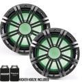 Kicker 10 Inch KM-Series Marine 4 Ohm Subwoofer 41KMW104LC with Free LED Remote Controller bundle