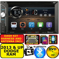2013 & UP RAM BLUETOOTH TOUCHSCREEN CD/DVD USB AUX SD CAR RADIO STEREO PACKAGE