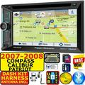 07 08 COMPASS CALIBER PATRIOT CD/DVD USB BLUETOOTH CAR RADIO STEREO PKG WITH OPT SIRIUSXM SATELLITE RADIO. INCL VEHICLE INSTALLATION HARDWARE DASH KIT, WIRE HARNESS, AND ANTENNA ADAPTER