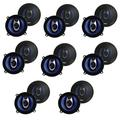 """""""Pyle PL53BL 5.25"""""""" 200W 3-Way Car Audio Triaxial Speakers Stereo, Blue (16 Pack)"""""""