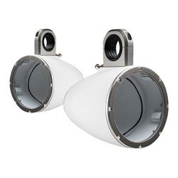 """""""43KMTES8W KICKER Marine Tower Enclosures for 8"""""""" Drivers, Pair, White"""""""