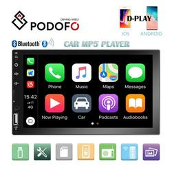 """""""2 Din Car Stereo Radio 7"""""""" HD Touch Screen Car Multimedia Player Bluetooth FM Radio TF USB Mirror Link For Android Iphone with 8 LED Camera"""""""