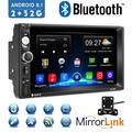"""""""Android 9.1 2 Din GPS Car Stereo Radio7"""""""" HD 1080P Car Player with Bluetooth WIFI GPS FM Radio Receiver Suppport Rear Camera ,2G RAM +32G ROM ,with 4 LED Camera"""""""