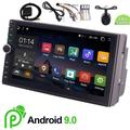 In Dash Android 9.0 Pineapple Cake Car Radio Stereo Quad Core Double 2 Din GPS Navigation Autoradio Head Unit 2din Video Player Support USB/SD Steering Wheel Control Mirrorlink Wifi + Rear Camera