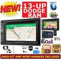 FITS 2013 & UP DODGE RAM NAVIGATION CD/DVD/BLUETOOTH/USB/AUX DOUBLE DIN CAR STEREO RADIO PACKAGE. INCLUDES INSTALLATION DASH KIT, WIRE HARNESS, AND ANTENNA ADAPTER
