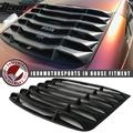 Ikon Motorsports Compatible with 03-08 Nissan 350Z IKON Matte Black Rear Window Louver Sun Shade Cover Windshield Vent ABS 2003 2004 2005 2006 2007 2008