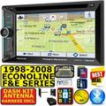 1998-2008 SELECTED FORD-LINCOLN USB BLUETOOTH USB AM/FM CD/DVD CAR RADIO STEREO PKG WITH OPT SIRIUSXM SATELLITE RADIO. INCL VEHICLE INSTALLATION HARDWARE DASH KIT, WIRE HARNESS, AND ANTENNA ADAPTER