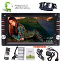 EinCar 2 Din Head Unit In Dash Double Din Car Stereo -Android 6.0 Car DVD Player with 6.2 Inch Touch Screen Support GPS Navigation Bluetooth Autoradio FM AM RDS Radio WIFI 4G Steering Wheel Control