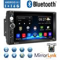 """""""Android 8.1 2 Din GPS Car Stereo Radio7"""""""" HD 1080P Car Player with Bluetooth WIFI GPS FM Radio Receiver Suppport Rear Camera ,1G RAM +16G ROM ,with 12 LED Camera"""""""