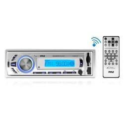 BT Stereo Radio In-Dash Console Headunit Receiver, USB/SD/MP3 Playback, Aux (3.5mm) Input, AM/FM Radio, Single DIN, Remote Control