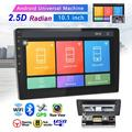 Android 8.1 1and 2 Din GPS Car Stereo Radio 10.1'' HD 1080P 2.5D Tempered Glass Mirror Car MP5 Player with Bluetooth WIFI GPS FM Radio Receiver Suppport Rear Camera with 4 LED Camera