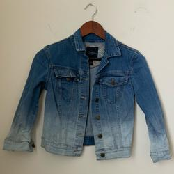 Jessica Simpson Jackets & Coats | Jessica Simpson Embroidered Cropped Denim Jacket | Color: Red | Size: Xs