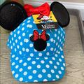 Disney Accessories | Minnie Ears Hat Disney World Exclusive | Color: Blue/White | Size: Os