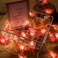 2 Strings Set, Lantern String Lights 9.8ft of 40 LED Lights Mini Vintage Halloween Decorative Kerosene String Lights for Patio Garden Home Holiday Decoration, Warm White Light(Red)