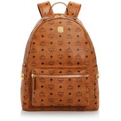 Stark Logo Monogram Backpack - Brown - MCM Backpacks