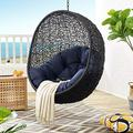 Modway EEI-3636-BLK-NAV Encase Swing Outdoor Patio Lounge Chair Without Stand, Black Navy