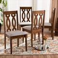 Baxton Studio Cherese Modern Grey Fabric Walnut Brown Finished 4-PC Wood Dining Chair Set - Wholesale Interiors RH334C-Grey/Walnut-DC-4PK
