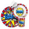 BooginHead Melamine Plate, Bowl, Cup, Utensil Set, BAM, 1.0 CT
