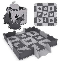 Foam Play Mat for Baby Kids Children Play Floor Mats Infant Animal Crawling Pad Soft Foam Floor Mat with Fence, Floor Mat, Floor Play Mat 25 Pieces F-291