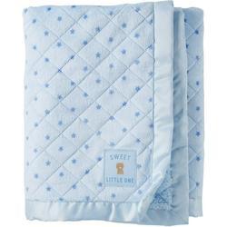 Child of Mine Newborn Quilted Baby Blanket, Blue