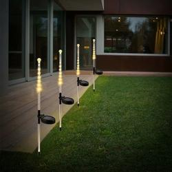 2Pcs 24LED Garden Solar Lights For Outdoor Pathway Bright Light for Walkway Patio Path Lawn Garden Yard Decoration Waterproof Seal Large Landscape Outside Post Lighting Lamps,warm