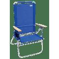 RIO Beach Hi-Boy Aluminum Beach Chair, Blue, Adjustable Lounge Chair