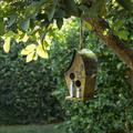 Alpine Corporation 12-Inch Hanging Modern Artful Birdhouse, Yellow