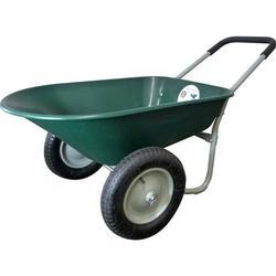 Marathon 70015 5 Cubic Feet Green Poly Wheelbarrow