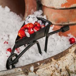Mini Garden Black Wheelbarrow