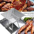 Portable Charcoal BBQ Grill,Barbecue Charcoal Grill Heavy-Duty Lightweight Stainless Steel Portable Folding Camping Grill for Outdoor Cooking Backyard Picnic Park
