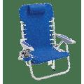 RIO Beach 4-Position Lace-Up Backpack Beach Chair - Blue
