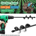 """9""""/18"""" Earth Garden Auger Drill Bit - Garden Auger Rapid Planter - Earth Auger Yard Garden Planting Planter Auger Hole Spiral Drill Bit"""