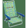 Margaritaville 5-Position Beach Chair, Green Fish, Adjustable Lounge Chair