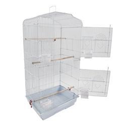 OTVIAP Cockatiel Bird Cage,37 Parrot Parakeet Cockatiel Bird Cage with Wood Perches & Food Cups White,Bird Cage