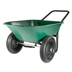 Garden Star Dual Wheel, Poly Tray Yard Rover Wheelbarrow