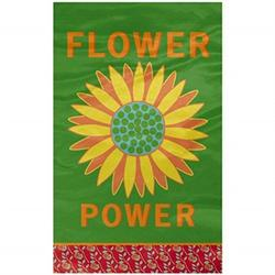 "grasslands road groove garden ""flower power"" sunflower garden flag"