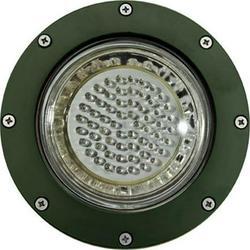 Dabmar Lighting LV306-LED3-G-MR Cast Aluminum LED In-Ground Well Light with PVC Sleeve, Green - 6.50 x 7.75 x 7.75 in.