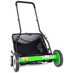 INTBUYING 20Inch 5-Blade Lawn Mower Walk Behind Lawn Cutting Zero Electric Adjusting Push Reel Mower