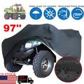 """Black Waterproof Riding Lawn Mower Tractor Storage Cover Protecter Outdoor 190D polyester taffeta 55.1x26.0x35.8""""/96.5x19.7x55.1"""""""