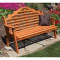 A & L Furniture Western Red Cedar Marlboro Garden Bench