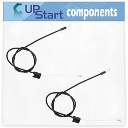 2-Pack 532176556 Engine Cable Replacement for Husqvarna ROTARY LAWN MOWER (96114001100) (2007-11) Lawn Mower: Consumer Walk Behind - Compatible with 176556 162778 Zone Control Cable
