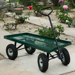 STKUSA Wagon Garden Cart Nursery Trailer Wheelbarrows