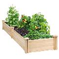Wooden Raised Garden Bed Planter Box for PatioYard,96� x 24� x 10.5�,Natural Wooden