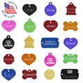"""Personalized Custom Engraved Pet ID Tags - Diamond Drag Engraved - Small And Large Sizes - See """"About This Item"""" Below For Pet Tag Engraving Instructions"""