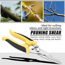 LYUMO 8 Stainless Steel Pruning Shears Cutter Home Gardening Plant Scissor Branch Pruner Hand Tool,Pruning Shear, Pruning Scissor