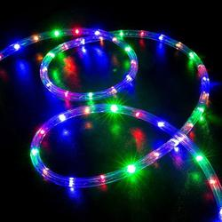 30 Ft LED Rope Lights with Remote Xmas Landscape Lighting Fairy Light for Indoor/Outdoor Christmas Wedding Lighting Garden Patio Pool Lighting 4 Modes Multi Color