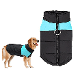 Newstar AHPET007BL Zipper Closure Puppy Jacket, Cold Weather Warm Vest Pet Jackets for Dogs, Blue Pet Clothes Gits Coats for Small / Medium / Large Dogs,(S-5XL)