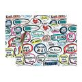 Cloth Placemats Affirmation Typography Rainbow Hand Lettering Words Set of 2